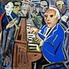 Jose Lemos lessa um piano dentro da noite.