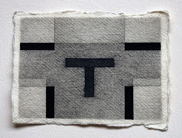 graphite cross vestment
