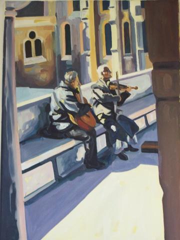 Musicians at the Fishaman's Palace (Budapest)
