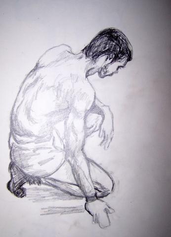 The Model Kneeling