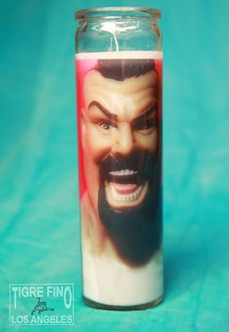 Pink Wrestler Candle