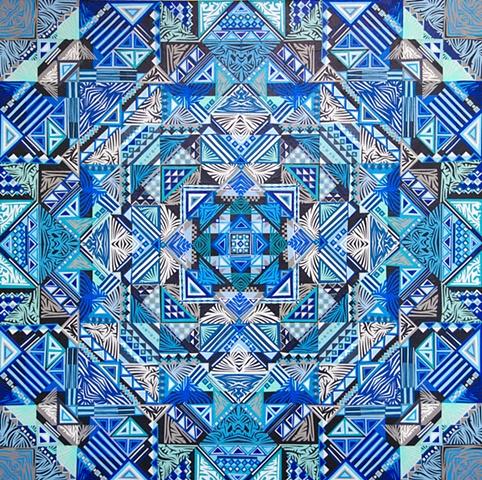 Blue Color Accent Collage