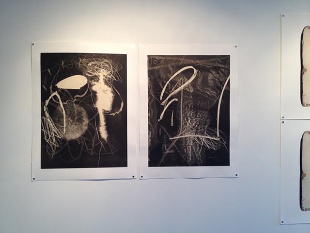 Passage and Surfacing, aquatint etching, 2014