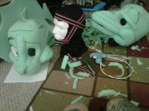 the very early stages of a mouse and gryphon