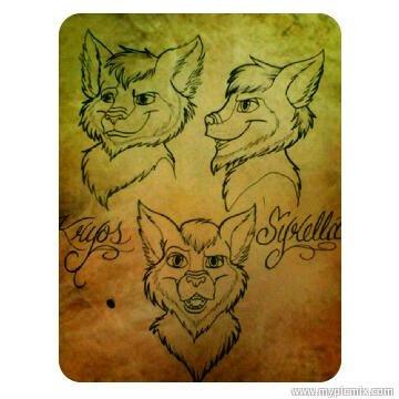 Kryos Syrella art. he is a wolf-bear hybrid with attitude and gruff!