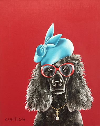 """Life is too short to be anything less than fabulous!"" - Ms Coco Chanel.  Whimsical Poodle Dog Portrait by Beth Whitlow"