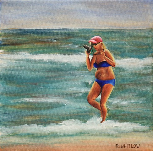 """Bikini Shooter"" is part of Beth Whitlow's Forgotten Coast series, created from snapshots taken along the Florida Panhandle, primarily Port St Joe, Apalachicola, and St George Island."