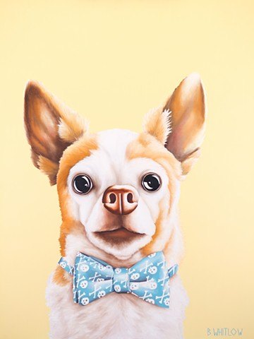 Chihuahua whimsical oil painting pet portrait dog portrait