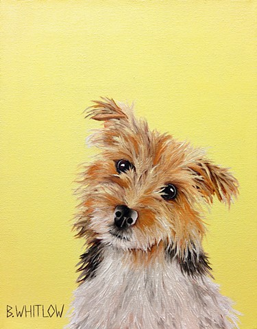 """It's time to kick ass and chew bubble gum, and I'm all out of gum."" - Sister  Whimsical Jack Russell Pet Portrait by Beth Whitlow"