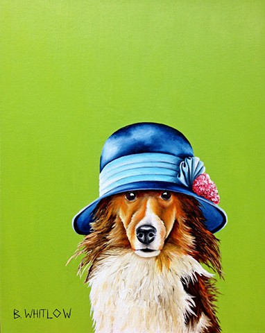 """A little dog hair makes a house a home."" - Sister Sadie.  Original pet portrait by Beth Whitlow"