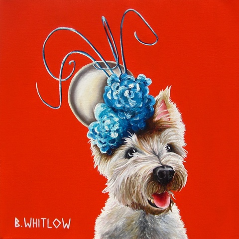 custom pet portrait, westie
