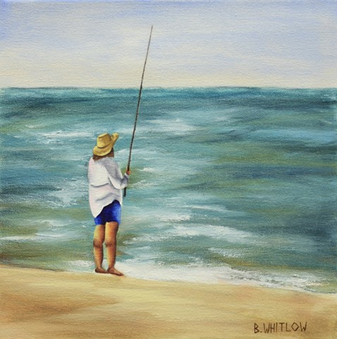"""Hooked"" is part of Beth Whitlow's Forgotten Coast series, created from snapshots taken along the Florida Panhandle, primarily Port St Joe, Apalachicola, and St George Island."