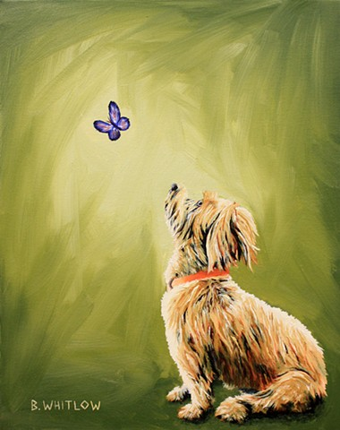 "Rescue Dog Pet Portrait by Beth Whitlow. ""I'm proof that it's never too late to live happily ever after!"" - HoneyBelle"