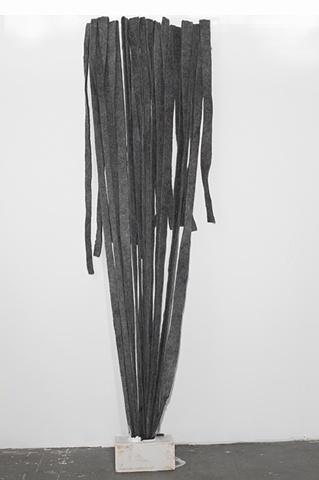 Felt sculpture, plaster, missy engelhhardt