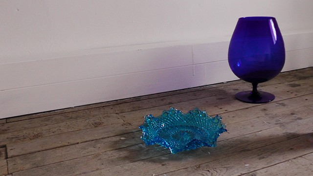 Robyn LeRoy-Evans photography artist art 2013 Wales blue glass objects