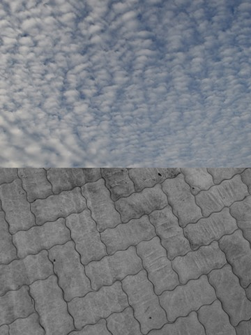 photograph of sky mattress clouds quilting by Robyn LeRoy-Evans