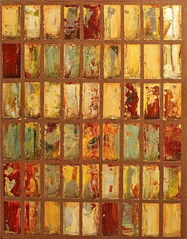 #11 Gold and Rust Factory Windows