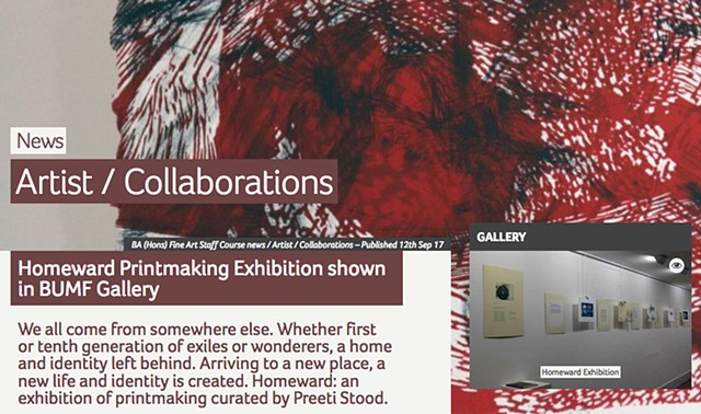 Homeward Portfolio Exhibiton in United Kingdom