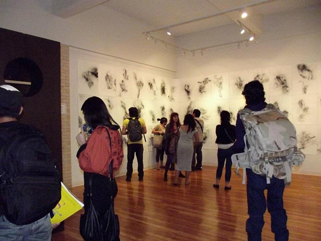 Reception at The University of Texas at Brownsville, Rustberg Gallery Exhibition.
