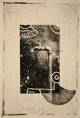 Printmaking, Lithography, South Texas,