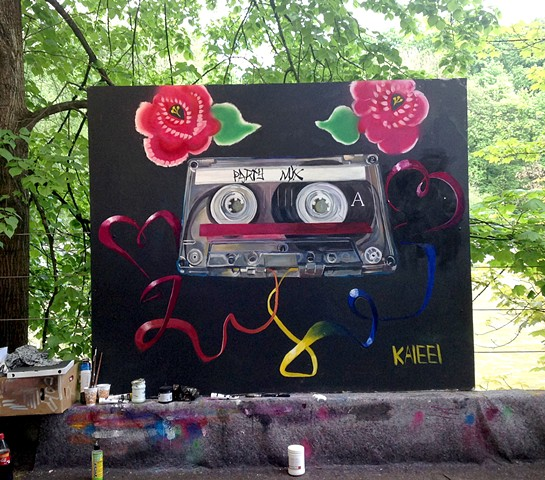 Party Time Mix Tape Mural