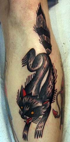 raccoon tattoo by Bradley Delay