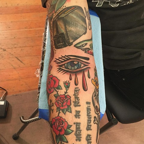 Eye tattoo by Brad Delay at Historic Tattoo
