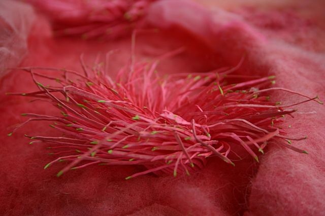 Sea Anemone, detail of paper sculpture