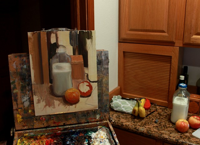 "Painting ""Countertop Clutter"""