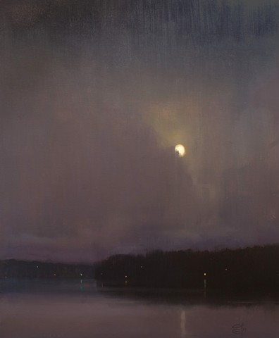 Devin Roberts Nocturne Moon Night Painting Oil