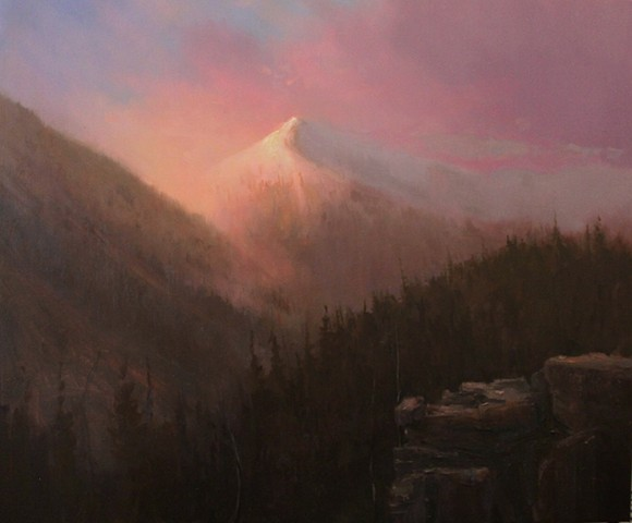 Devin Roberts Artist Painter Sunset Mountains