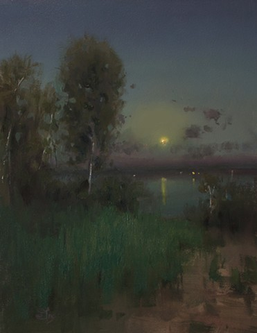 Original Oil Nocturne Painting