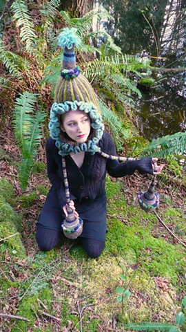 Nature Drag Forest Installation:  Victorian Squash Blossom Party Hat