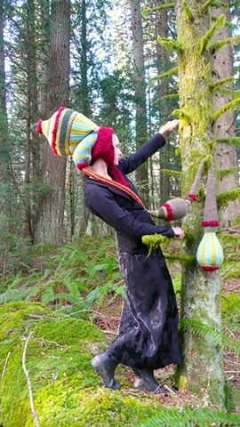 Nature Drag Forest Installation:  Czarista Kelp Hat & Stole