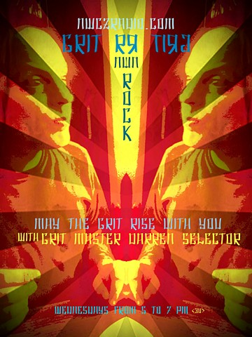 Grit Rock Radio 'Grit-Vana' Poster Series 1 #2 'Grit Master'
