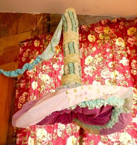 Marriage Bed Installation Detail:  Fallopian Tube Lamp
