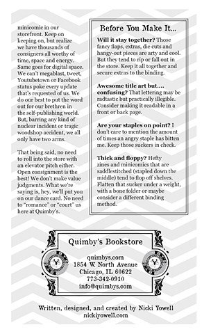 Consignment Primer - Back Page - Quimby's