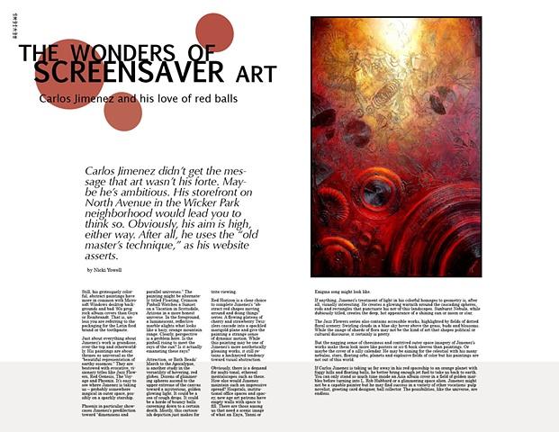 FAKE Magazine Spread, Carlos Jimenez Story