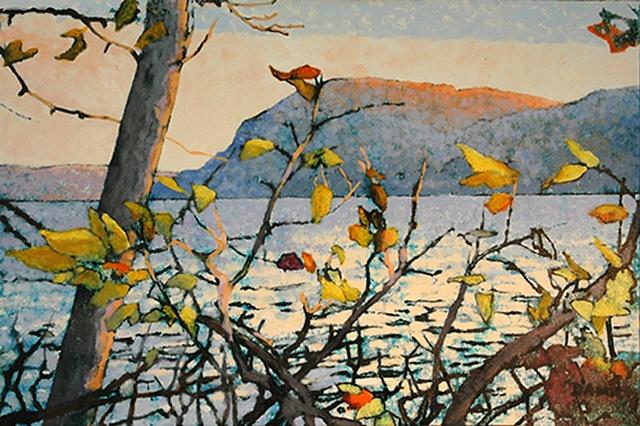 Hudson Yellow Leaves, oil, 30x40