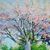 Mock Cherry, 22x36, acrylic