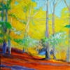Yellow Path, 36x48, acrylic