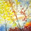 Big View Through Autumn Leaves, acrylic, 36x50