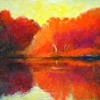 Red Autumn, oil, 36x54