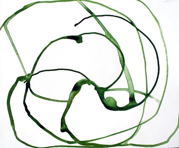 green drips swirled