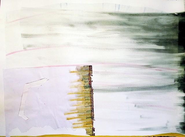 kansas landscape pastel watercolor paper