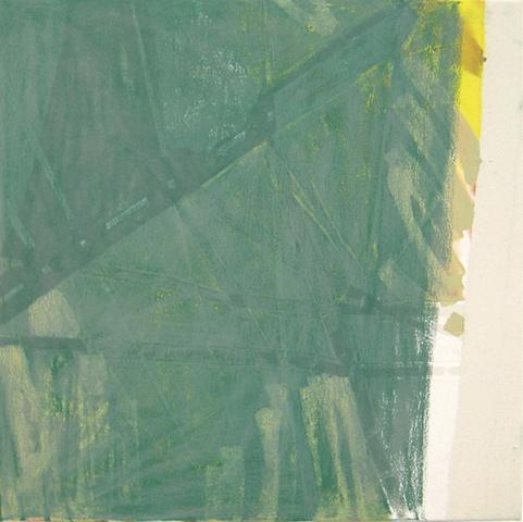 green pastel swath