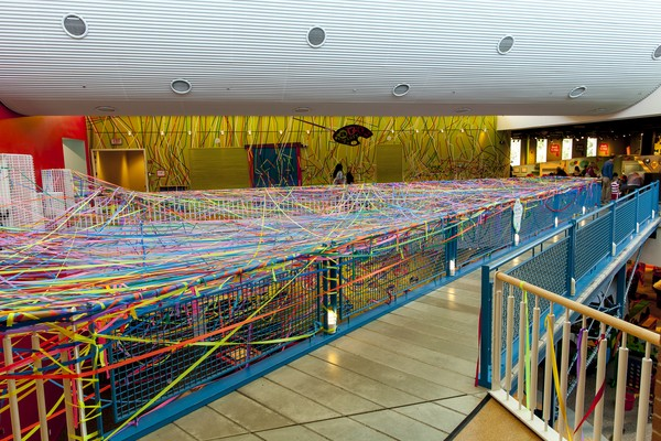 Connect the Lines is made of 12 miles of vinyl and 3 miles of tape. Public Artwork. Community based artwork at Marbles Kids Museum in Raleigh, NC. This project is supported by the City of Raleigh. New York NY. School of Visual Arts. Skowhegan School of Pa