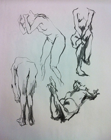 STUDENTS' WORK   Gesture Studies, Chae Lin Lee    FIGURE DRAWING/LOCATION DRAWING (FOUNDATION YEAR) FINE ARTS DEPARTMENT FOR INTERNATIONAL STUDENTS PROF. STEVEN DANA SCHOOL OF VISUAL ARTS NY