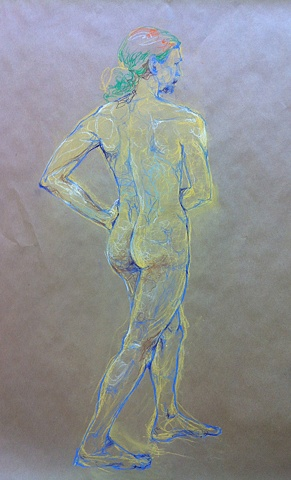 STUDENTS' WORK   The Figure, Sun Min Ryu    FIGURE DRAWING/LOCATION DRAWING (FOUNDATION YEAR) FINE ARTS DEPARTMENT FOR INTERNATIONAL STUDENTS PROF. STEVEN DANA SCHOOL OF VISUAL ARTS NY