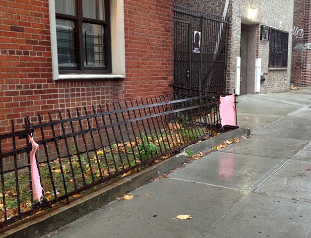Mending Fences is an ongoing public art project focused on the quiet gesture of healing and repair.